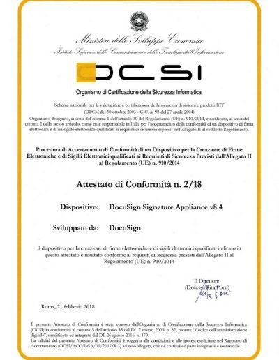 DocuSign Signature Appliance v8.4
